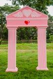 Porte romantique rose Photographie stock