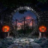 Porte ronde au jardin illustration libre de droits
