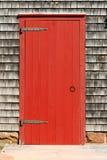 Porte rouge Photographie stock libre de droits