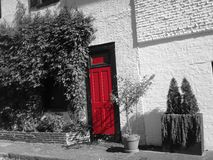 Porte rouge Photos stock