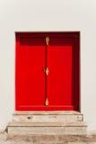 Porte rouge Photos libres de droits