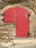 Porte rouge Photographie stock