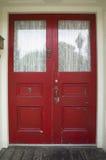 Porte rouge Photo libre de droits