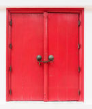 Porte rouge de lanna Photos libres de droits