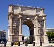 Porte Royale - arco trionfale a Marsiglia Fotografia Stock Libera da Diritti