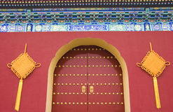 Porte royale traditionnelle chinoise Images stock