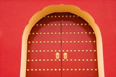 Porte royale traditionnelle chinoise Images libres de droits