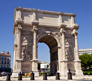Porte Royale - triumphal arch in Marseille Royalty Free Stock Photo