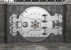 Porte sûre sur le mur 3d illustration libre de droits