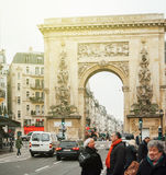 Porte Saint-Denis - LUDOVICO MAGNO inscription Royalty Free Stock Images