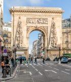 Porte Saint Denis in Paris Stock Images