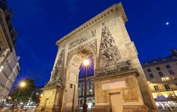 Porte Saint-Denis is a Parisian monument located in the 10th arrondissement of Paris, France. Porte Saint-Denis is a Parisian monument located in the 10th stock photo