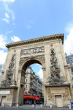 Porte Saint-Denis triumphal arch Royalty Free Stock Photo
