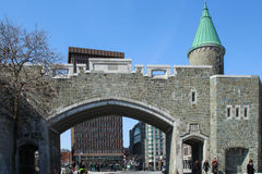 Porte Saint Jean, one of the city gates of Quebec City Stock Image