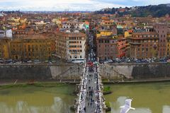 Porte Sant'Angelo or Bridge of Stock Photos
