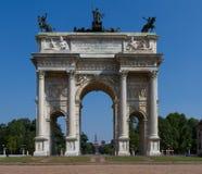 Porte Sempione Foto de archivo libre de regalías