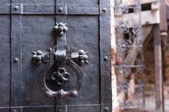 Porte solide de porte en métal Image stock