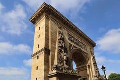 Porte St Denis в Париже, Франции стоковое фото rf