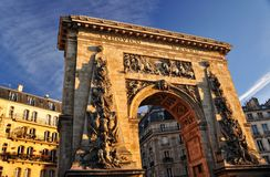Porte St Denis, Paris Imagem de Stock Royalty Free