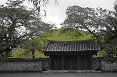 Porte sud-coréenne de temple Photos libres de droits