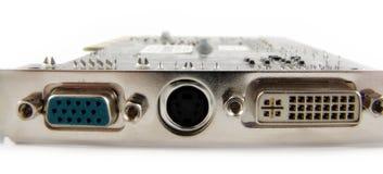 Porte sulla video scheda Fotografia Stock