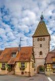 Porte supérieure dans Bergheim, Alsace, France Image stock