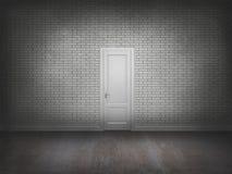 Porte sur le mur de briques Images libres de droits