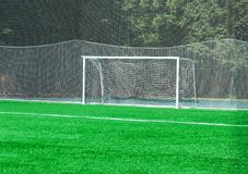 Porte sur un terrain de football Photographie stock libre de droits