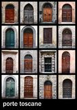 Porte toscane. Compilation of old doors from Italy Royalty Free Stock Photo