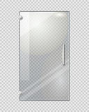 Porte transparente sur Grey Checkered Background illustration libre de droits