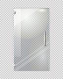 Porte transparente sur Grey Checkered Background Image stock