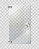 Porte transparente sur Grey Checkered Background Photographie stock