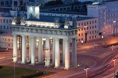 Porte triomphale de Moscou photographie stock