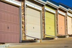 Porte variopinte del garage Fotografia Stock Libera da Diritti