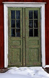 Porte verdi Fotografia Stock