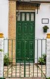 Porte verte Images libres de droits