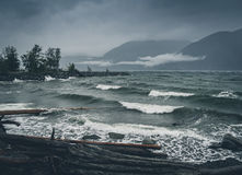 Porteau Cove on a Blustery day. Royalty Free Stock Photography