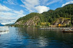 Porteau on the Howe Sound in British Columbia Royalty Free Stock Photography