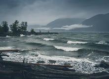 Porteau liten vik på en stormig dag Royaltyfri Fotografi