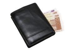 Portefeuille avec l'argent Image libre de droits