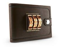 Portefeuille avec la serrure de combinaison Photos libres de droits