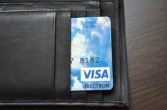 Portefeuille, bourse avec la carte de crédit, capital, finances Photos stock