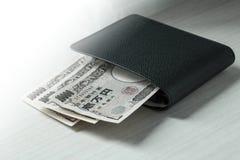 Portefeuille d'argent Images stock