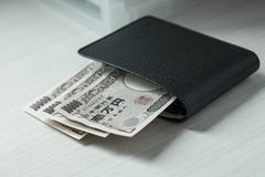 Portefeuille d'argent Image stock