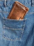 Portefeuille dans la poche image libre de droits