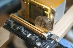 Portefeuille du bitcoin BTC de Cryptocurrency image stock