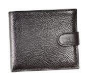 Portefeuille en cuir noir Image libre de droits