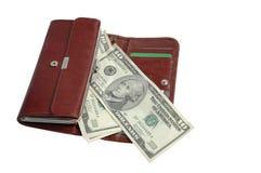 Portefeuille en geld Royalty-vrije Stock Afbeelding