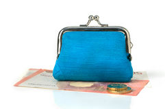 Portefeuille en Geld Stock Foto's