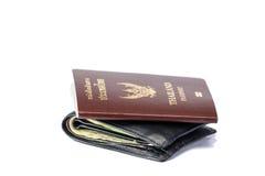 Portefeuille en paspoort stock afbeelding